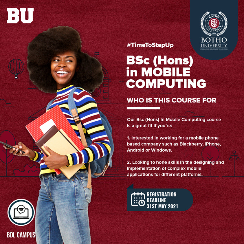 Botho University is Southern Africa's fastest growing private tertiary educational provider offering Masters, Bachelors and short term certificate diploma programmes across various disciplines