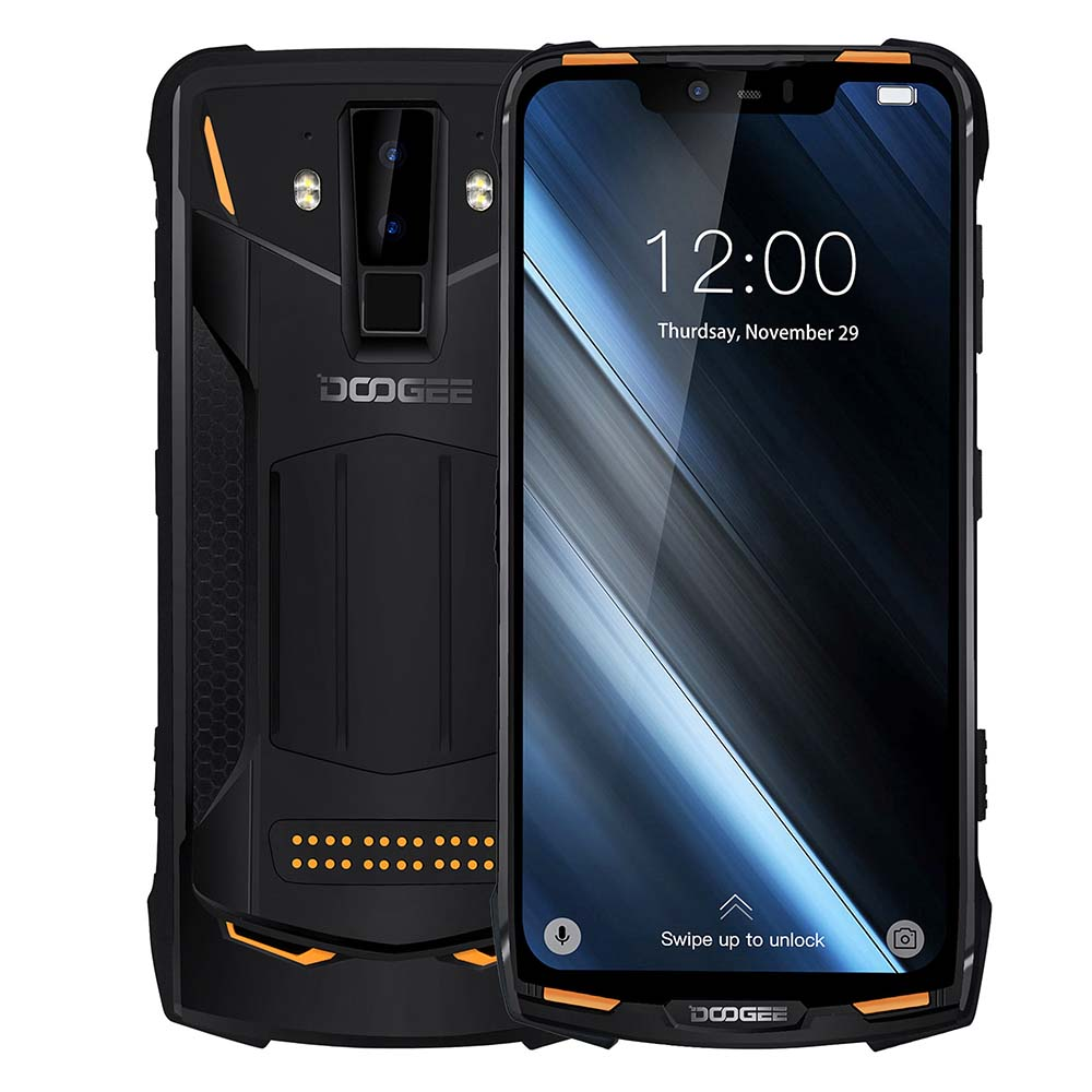 DOOGEE S90C Rugged Phone 6.18″ Display Helio P70 Octa Core 4GB+128GB 16MP+8MP Android Cell Phone